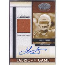 2008 Leaf Certified Jersey Autografo Rookie Limas Sweed /10