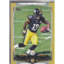 2014 Topps Gold Rookie Dri Archer Rb Steelers /2014