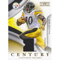 2009 Nt Century 2color Patch Santonio Holmes 46/50 Steelers