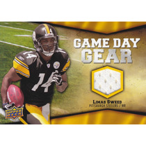 2009 Upper Dek Game Day Gear Jersey Limas Sweed Wr Steelers