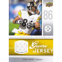 2009 Upper Deck Game Jersey Hines Ward Wr Steelers