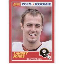 2013 Score Red Landry Jones Rookie Pittsburgh Steelers Qb