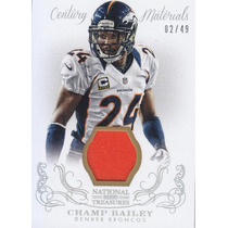 2013 National Treasures Prime Jersey Champ Bailey Bronco /49