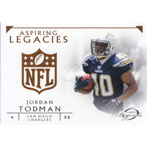 2011 Topps Legends Al Rookie Jordan Todman Rb Chargers