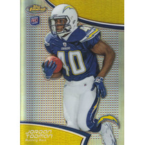 2011 Topps Finest Refractor Rookie Jordan Todman Rb Chargers