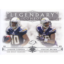 2011 Topps Legends Lc Jordan Todman Vincent Brown Chargers