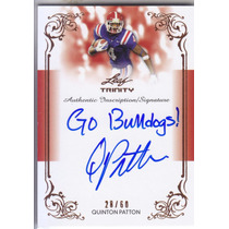 2013 Leaf Trinity Inscription Autografo Quinton Patton /60