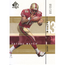 2001 Sp Authentic Gold Rookie Kevan Barlow /100 49ers