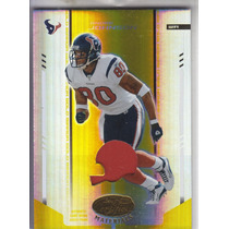 2004 Leaf Certified Materials Prime Jersey Andre Johnson /25