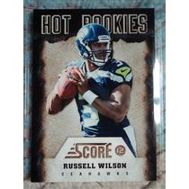 Nfl Fan Seahawks Tarjeta Hot Rc Qb Russell Wilson Nva