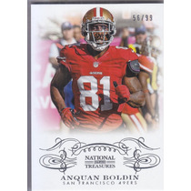 2013 National Treasures Base Anquan Boldin Wr 49ers /99