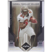 2007 Leaf Limited Gold Carnell Cadillac Williams Buccs 1/10