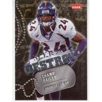 2006 Fleer Seek And Destroy Champ Bailey Denver Broncos