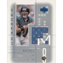2001 Ud Graded Jersey Mark Brunell Jacksonville Jaguars