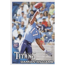 2010 Topps Damian Williams Rc Tennessee Titans