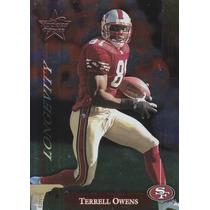 2002 Rs Longevity Foil Terrell Owens 4/50 Wr 49ers