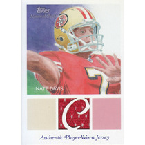 2009 Topps Chicle Rookie Jersey Nate Davis Qb 49ers