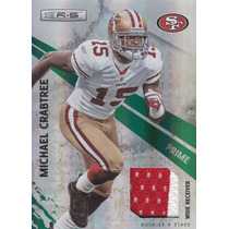 2010 Rs 2color Patch Prime Michael Crabtree 13/50 Wr 49ers