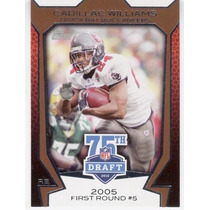 2010 Topps Draft 75th Anniversary Cadillac Williams Bucaneer