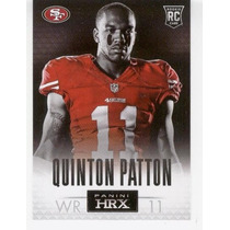 2013 Panini Prizm Hrx Quinton Patton Rc San Francisco 49ers