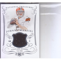 2014 National Treasures Rc Jersey Johnny Manziel Qb 11/99