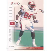 2001 Sage Rookie Chris Chambers Wr Dolphins