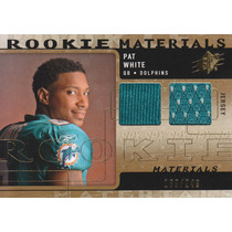 2009 Spx Dual Rookie Jersey Pat White Qb Dolphins 189/249