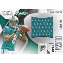 2009 Treasures Colossal Jersey Rc Pat White Qb Dolphins 2/50