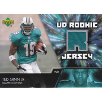 2007 Upper Deck Rookie Jersey Ted Ginn Jr Wr Dolphins