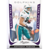 2011 Prestige X Points Purple Anthony Fasano Te Dolphins /50