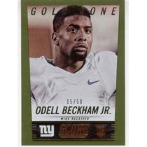 2014 Score Gold Zone Rookie Odell Beckham Jr Giants /50