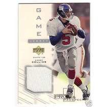 Kerry Collins Tarj C Jersey 2001 Num A 50 Giants Rnt