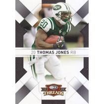 2009 Donruss Threads Thomas Jones Rb Jets