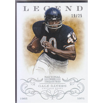 2013 National Treasures Silver Legend Gale Sayers Bears /25