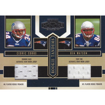 2004 Playoff Honors Jerseys Rookie C Cobbs B Watson Patriots