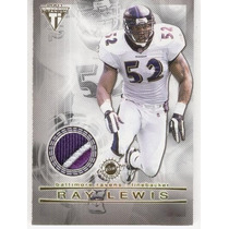 2001 Titanium 3 Colors Double Jersey Ray Lewis - Brian Cox