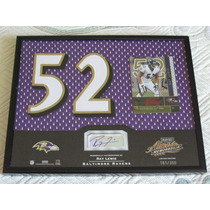 2002 Absolute Custom Jersey Autografo Ray Lewis /350 Ravens