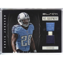 2012 Panini Black Nfl 2x Jersey Chris Johnson 48/99 Titans