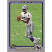 2001 Topps Rookie Quincy Carter Qb Cowboys