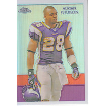 2009 Topps Chrome Chicle Blue Refractor Adrian Peterson /100