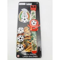 Selección Mexicana De Fútbol. Reloj Digital Lanza Balones.