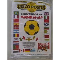 Disco Poster 1986 Logo World Cup Mexico 1986 Bienvenidos Al