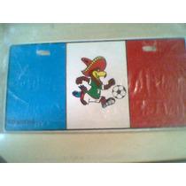 Placas Mascota Mundial Mexico 70 Aguila Pico Band Francia
