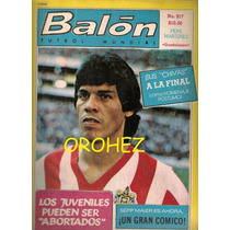 Revista Futbol Balón Chivas Guadalajara Pepe Martínez 1981