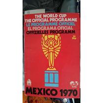Programa Oficial Copa Mundial México 1970 Perfecto Estado