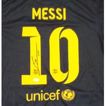 Jersey Autografiado Firmado Lionel Messi Barcelona Argentina