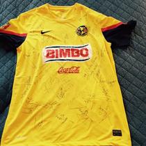 Playera 2013 Original Del America Firmada (firma De Raul)