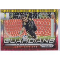 2014 Prizm Guardians Yellow Red Prizms Iker Casillas Spain
