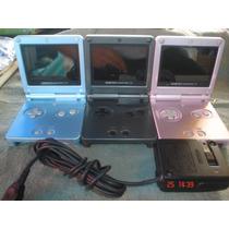 Game Boy Advance Sp Doble Luz+cargador+6 Juegos A Escoger