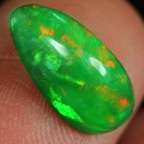 Raro Opalo Welo Verde Esmeralda 1.75 Cts Cabujon Pera